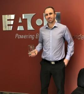 Eaton Industries (Canada) Company receiving their 2020 Bowman Award.
