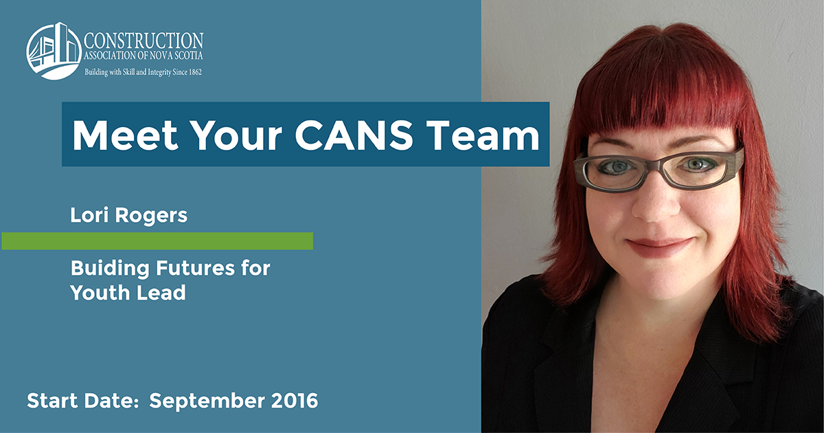 Headline reads Meet Your CANS Team. Lori Rogers - Building Futures for Youth Lead. Start date: September 2016. Photo is a portrait of Lori smiling.