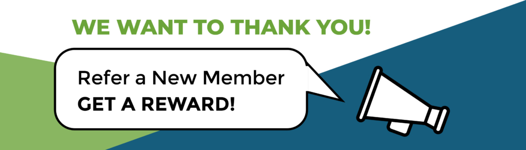 Graphic reads: Refer a new member to CANS and receive a referral reward!