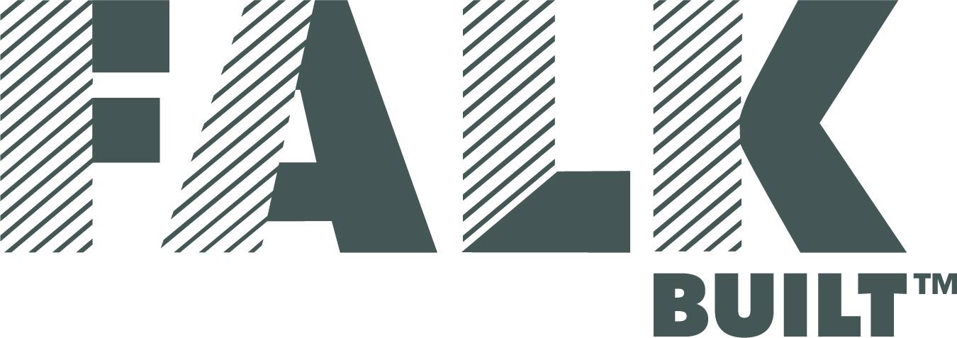 Logo. Logo is a graphic representation of the company name, falkbuilt.